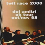 Del Amitri Twit Race 2000 - Tour Itinerary UK book