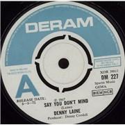 "Denny Laine Say You Don't Mind UK 7"" vinyl Promo"