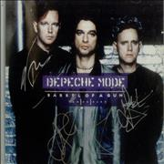 Click here for more info about 'Depeche Mode - Barrel Of A Gun - Fully Autographed Insert'