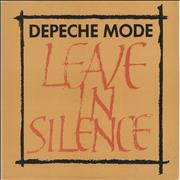 "Depeche Mode Leave In Silence - Textured Sleeve - EX UK 12"" vinyl"