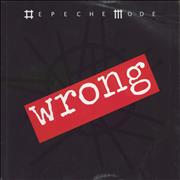 "Depeche Mode Wrong UK 12"" vinyl"