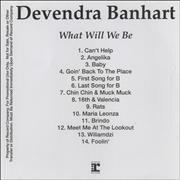 Click here for more info about 'Devendra Banhart - What Will We Be'