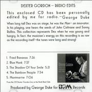 Click here for more info about 'Dexter Gordon - Dexter Gordon - Radio Edits'