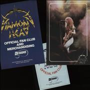 Diamond Head Borrowed Time + Merchandise & Fan Club Inserts UK tour programme