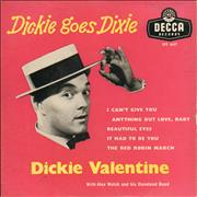 Click here for more info about 'Dickie Valentine - Dickie Goes Dixie'