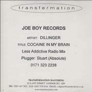Click here for more info about 'Dillinger - Cocaine In My Brain - Less Addictive Radio Mix'