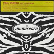 Click here for more info about 'Dina Carroll - Say You Love Me - Pink Stickered'