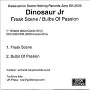 Click here for more info about 'Dinosaur Jr - Freak Scene/Bulbs Of Passion'