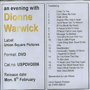 Click here for more info about 'Dionne Warwick - An Evening With'