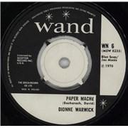 "Dionne Warwick Paper Mache UK 7"" vinyl"