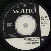 """Dionne Warwick Who Gets The Guy UK 7"""" vinyl"""