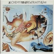 Dire Straits Alchemy Live - Gold Promo Stamped UK 2-LP vinyl set