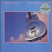 Dire Straits Brothers In Arms - Hype sticker UK vinyl LP