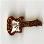 Click here for more info about 'Dire Straits - Guitar Shaped Pin Badge'