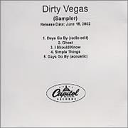 Click here for more info about 'Dirty Vegas - Sampler'