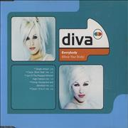 Diva Everybody (Move Your Body) UK CD single