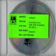 Click here for more info about 'Dodgy - Staying Out For The Summer '95 - Reference Cd'
