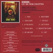 Click here for more info about 'Dokken - Live 1981 From Conception'