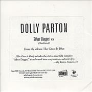 Dolly Parton Silver Dagger USA CD single Promo