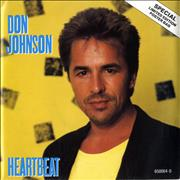 Click here for more info about 'Don Johnson - Heartbeat - Poster Sleeve'
