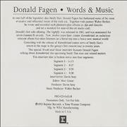 Click here for more info about 'Donald Fagen - Words & Music'