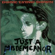 Click here for more info about 'Done Lying Down - Just A Misdemeanor'