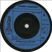 Click here for more info about 'Donny Osmond - When I Fall In Love'