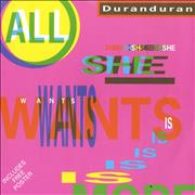 Click here for more info about 'Duran Duran - All She Wants Is - Poster Sleeve'