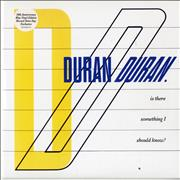 """Duran Duran Is There Something I Should Know? - RSD13 - Blue Vinyl UK 7"""" vinyl"""