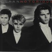 Duran Duran Notorious Australia vinyl LP Promo