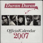 Click here for more info about 'Duran Duran - Official Calendar 2007'