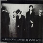 Duran Duran White Lines Netherlands CD single