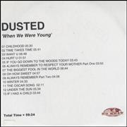 Click here for more info about 'Dusted - When We Were Young'