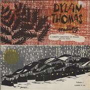 Dylan Thomas A Child's Christmas In Wales and Five Poems USA vinyl LP