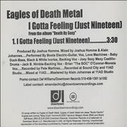 Click here for more info about 'Eagles Of Death Metal - I Gotta Feeling [Just Nineteen]'