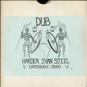 Earthquake Studio Dub Harder Than Steel UK vinyl LP