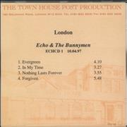 Click here for more info about 'Echo & The Bunnymen - Evergreen - Album Sampler'