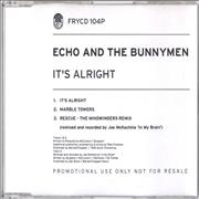 Click here for more info about 'Echo & The Bunnymen - It's Alright'