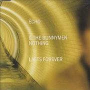 Click here for more info about 'Echo & The Bunnymen - Nothing Lasts Forever - Yellow P/S'