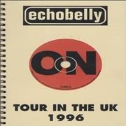 Click here for more info about 'Echobelly - Tour In The UK - 1996 Tour Itinerary'