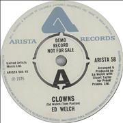 Click here for more info about 'Ed Welch - Clowns - A Label'
