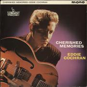 Click here for more info about 'Eddie Cochran - Cherished Memories - 1st - EX'