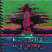 Click here for more info about 'Editors - 2008 European Tour Itinerary'
