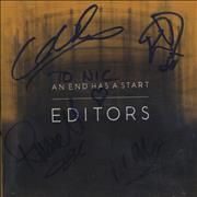 Click here for more info about 'Editors - An End Has A Start - Autographed'