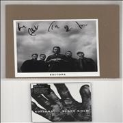 Click here for more info about 'Editors - Black Gold - Sealed + Autographed Print'