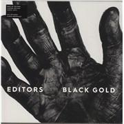 Editors Black Gold - White Vinyl - Sealed + Autographed Print UK 2-LP vinyl set