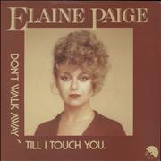 Click here for more info about 'Elaine Paige - Don't Walk Away Till I Touch You - A Label'