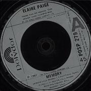 Click here for more info about 'Elaine Paige - Memory - Silver injection'