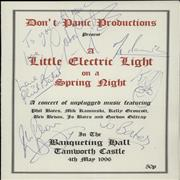 Click here for more info about 'Electric Light Orchestra - A Little Electric Light On A Spring Night - Autographed'
