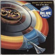 Electric Light Orchestra Out Of The Blue - Blue Vinyl + Poster - Stickered Sleeve UK 2-LP vinyl set